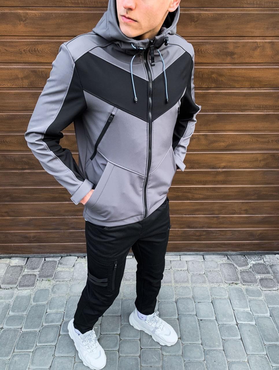Чоловіча куртка Ragnar (Grey Black insert)S L XL