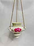 Ю Керамическая лампада подвесная средняя роспись со стаканом, фото 2