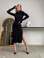 Сексуальное облегающее платье с разрезом с 42 по 46 размер, фото 3