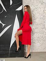 Сексуальное облегающее платье с разрезом с 42 по 46 размер, фото 4
