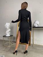 Сексуальное облегающее платье с разрезом с 42 по 46 размер, фото 5