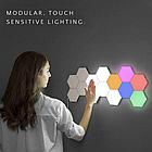 ОПТ Модульная настенная лампа с пультом 3шт Цветная шестигранная, светильник ночник на стену, фото 5