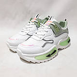 38,39,р. Жіночі кросівки на товстій підошві весняні з еко-шкіри та текстилю білі, фото 4