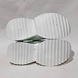 38,39,р. Жіночі кросівки на товстій підошві весняні з еко-шкіри та текстилю білі, фото 7