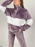 Велюровий спортивний костюм з вставками контрастного кольору з 42 по 48 розмір, фото 3