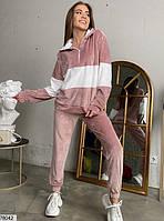 Велюровий спортивний костюм з вставками контрастного кольору з 42 по 48 розмір, фото 4