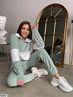 Велюровий спортивний костюм з вставками контрастного кольору з 42 по 48 розмір, фото 8