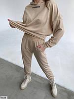 Повсякденний трикотажний костюм в спортивному стилі з 42 по 48 розмір, фото 4