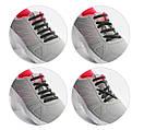 Силиконовые шнурки для обуви 12 штук в комплекте синие., фото 6