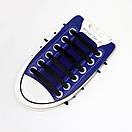 Силиконовые шнурки для обуви 12 штук в комплекте синие., фото 7