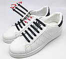 Силиконовые шнурки для обуви 12 штук в комплекте синие., фото 9