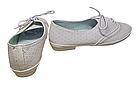 Білі мокасини туфлі на шнурівці дівчаткам, розмір 34 устілка 21 см, фото 3