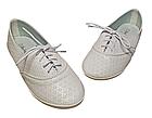 Білі мокасини туфлі на шнурівці дівчаткам, розмір 34 устілка 21 см, фото 2