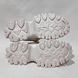 39 р. Жіночі кросівки на товстій підошві весняні з еко-шкіри та текстилю бежеві, фото 7