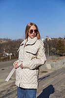 Демисезонная женская стеганая куртка с накладными карманами Mila Nova Куртка К-191 могочного цвета, р. 42-48