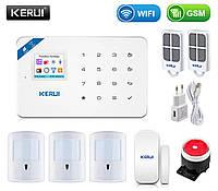 Комплект беспроводной gsm WiFi сигнализации с иммунитетом Pet для 2-комнатной квартиры Kerui W18