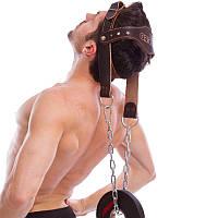 Упряж для тренування шиї (тяги для шиї, обважнювача для шиї) зі шкіри