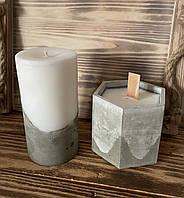 Свеча с бетонным основанием