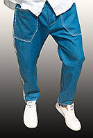 Мужские стильные джинсы-бананы, батал