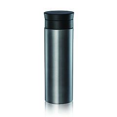 Термос Bergamo Bari, вакуумний сталевий, 450 мл (графіт, 70 х 215 мм)