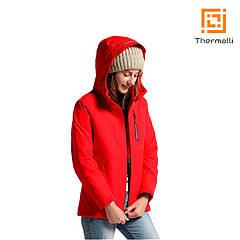 Жіноча куртка з підігрівом Thermalli Pila (червоний, M)