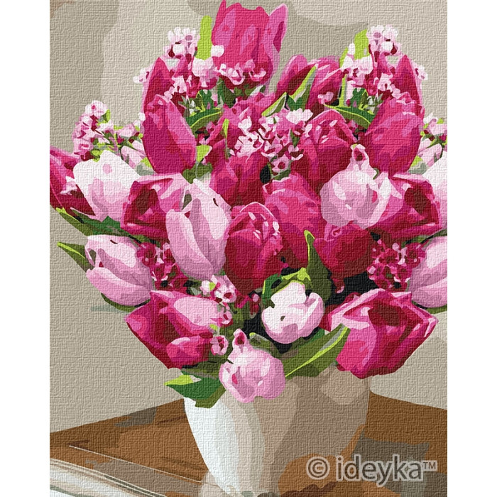 Картина по номерам Яркие тюльпаны Идейка 40 х 50 КНО3006