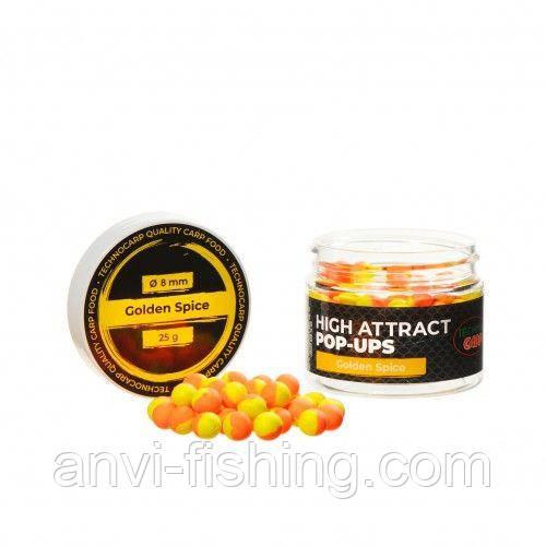 Бойли Технокарп Pop-Up Golden Spice 8 мм 25 грам