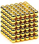 Конструктор магнитный золотойНеокуб 216 шт Neocube магнитные шарики куб цветной антистресс в коробке.