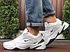 Мужские демисезонные кроссовки Nike M2K Tekno,белые с черным - Фото