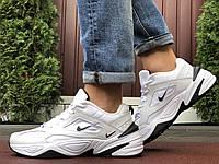 Мужские демисезонные кроссовки Nike M2K Tekno,белые с черным
