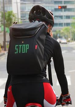 В помощь велосипедисту – сигнальный рюкзак
