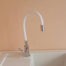 Смеситель кухонный Germece CS8519-3 белый гибкий излив