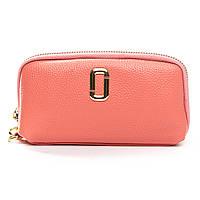 Женский кожаный кошелек-косметичка T1338-5 розовый.Купить женский кожаный кошелек.