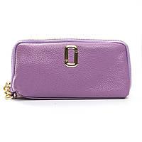 Женский кожаный кошелек-косметичка 1338-3 фиолетовый.Купить женский кожаный кошелек.