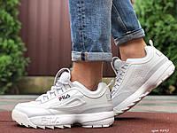 Мужские демисезонные кроссовки Fila Disruptor 2 white (белые)
