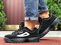 Мужские демисезонные кроссовки Fila Disruptor 2 black (черные)