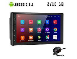 Автомагнітола 2 DIN CML-PLAY UI3, Android 8.1, GPS, Bluetooth, IPS екран, WI-FI, USB з камерою заднього виду