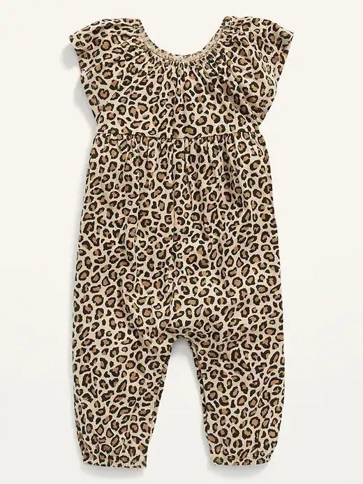 Стильний літній ромпер з леопардовим принтом для дівчинки Олд Неві