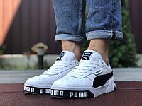 Мужские кроссовки Puma Cali Bold,белые с черным