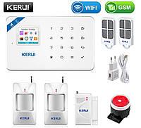 Комплект бездротової gsm WiFi сигналізації економ для 1-кімнатної квартири Kerui W18, фото 1