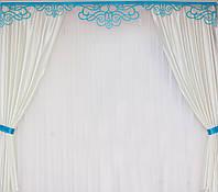 Красивые шторы с ламбрекеном в комплекте