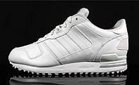 Белые адики! adidas zx700, из натуральной кожи