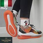 Женские кроссовки Valentino Garavani, Италия, кожа, замша, демисезонные, молодежные.