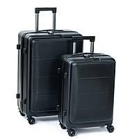 Дорожный Чемодан  2/1 ABS-пластик 18 black змейка 105.Купить дорожный чемодан