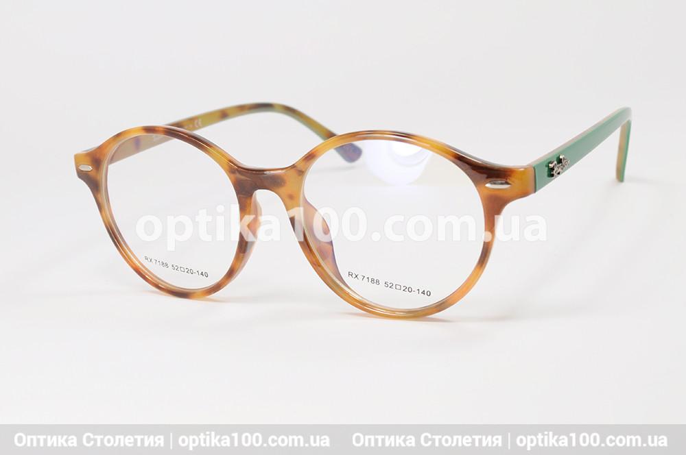 Женская цветная оправа для очков. Круглая. С логотипом Ray Ban
