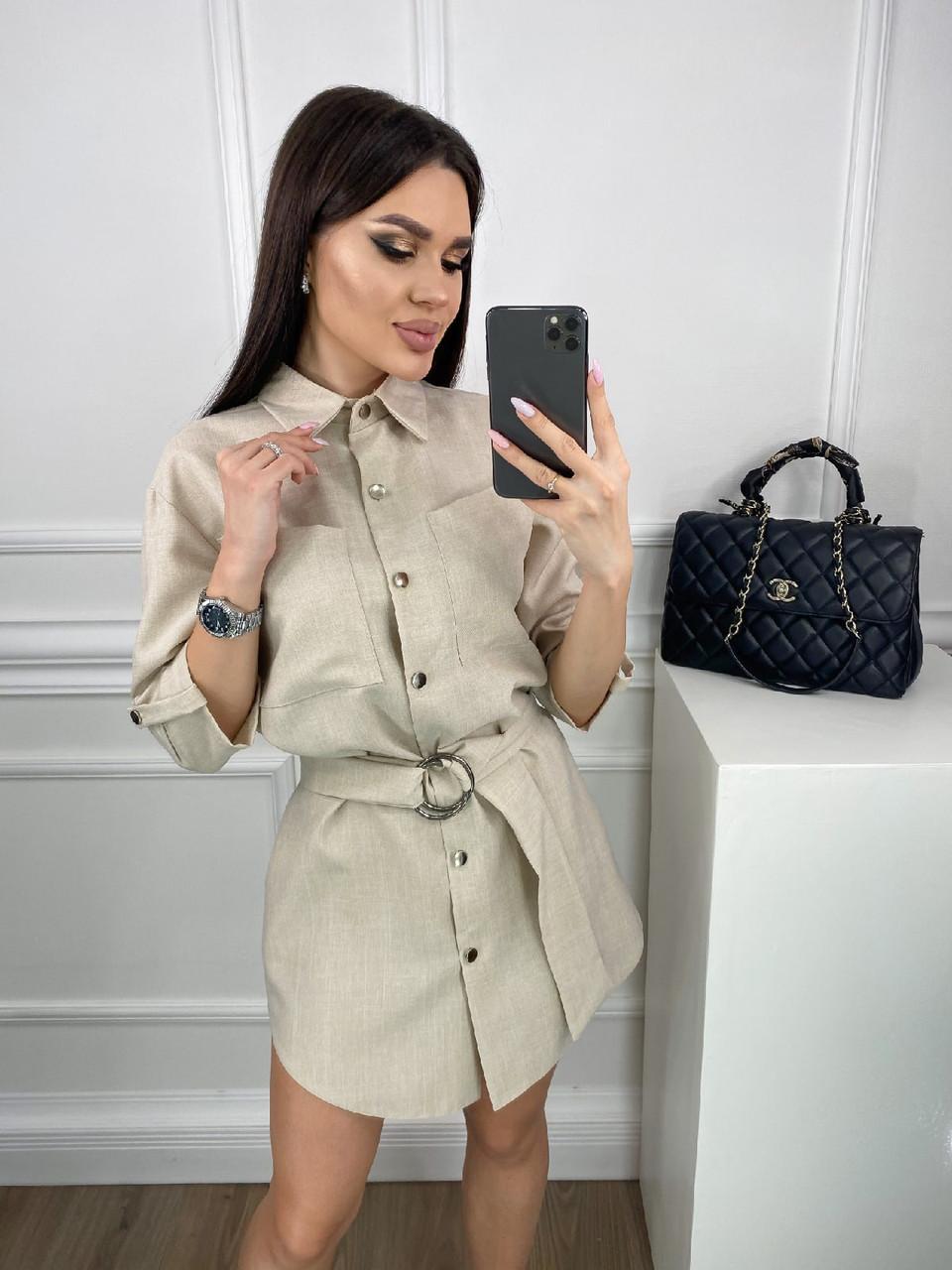 Стильна жіноча сукня рубашка весняна розміри 42 44 46 48 Новинка 2021 забарвлення 3