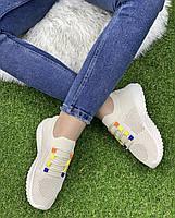 Кросівки жіночі 8 пар в ящику бежевого кольору 36-41, фото 5