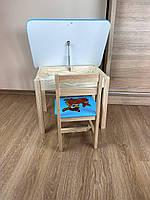 Детский стол и стул. Для учебы,рисования,игры. Стол с ящиком и стульчик., фото 10