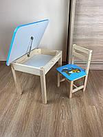 Детский стол и стул. Для учебы,рисования,игры. Стол с ящиком и стульчик., фото 9