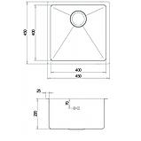 Кухонна мийка з нержавіючої сталі 450х450 AquaSanita ENN100X, фото 2